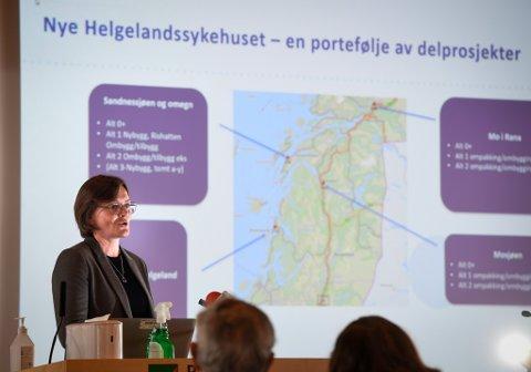 Prosjektkoordinator Merethe Myrvang i Nye Helgelandssykehuset vil jobbe tett også med den nye prosjektdirektøren. Nylig orienterte hun kommunestyret i Rana om status.