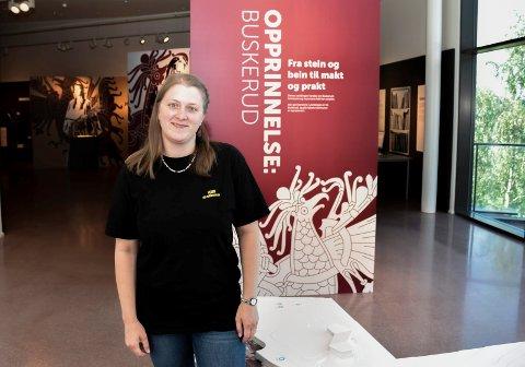 Fast utstilling: Arkelog og avdelingsleder Emma Nielsen i Veien kulturminnepark har en veldig flott utstilling å by på i museets første etasje.