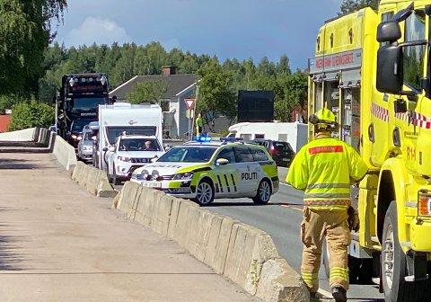 """KJEDEKOLLISJON: Tre biler har vært involvert i en kjedekollisjon i lav hastighet i """"Gummikrysset"""" onsdag ettermiddag."""