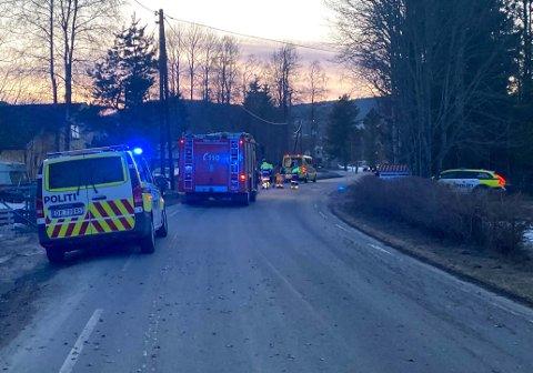 DRAMATSIK: Mannen i 50-åra ble fløyet til Oslo universitetssykehus Ullevål etter ulykken.