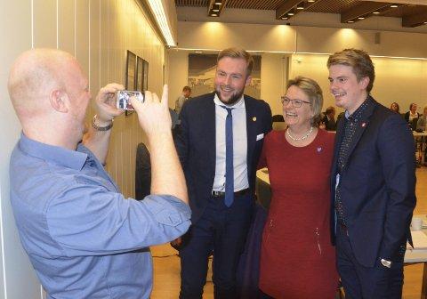ENIGE: Denne gangen var de enige, (f.v.) Espen Hansen Aaspaas (Frp), Christoffer Pederssen (Frp), Hilde Gunn Sletten (MDG) og Rikard Knutsen (Frp). Her fra et tidligere møte i kommunestyret.