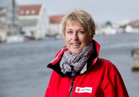 FORNØYD: Røde Kors-leder i Buskerud, Mari Ann Morken er fornøyd med inntektene fra Pantelotteriet.