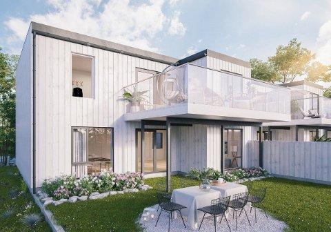 NYTT: Her er et av de nye boligprosjektene i Røyken