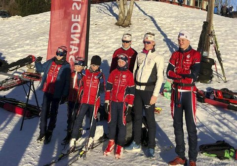Til Start: Syv lokale utøvere til start på Jarseng. Alle foto: Sande sportsklubb ski
