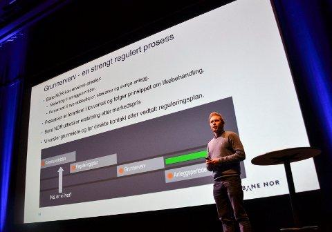 PROSJEKTLEDER: – Utbyggingen skal skje trinnvis. Det betyr at strekningen Stokke-Sandefjord kan prioriteres først, sier Hans Jørgen Bihli i Bane Nor.