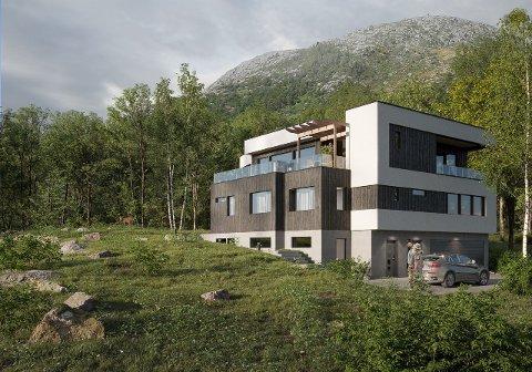 Du kan bo like ved turperlen Dalsnuten. Prisantydning er 14 millioner kroner på denne villaen som skal bygges ved nedre Eikenuten.