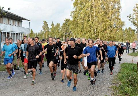 MANGE: Det var 63 deltagere i Torsdagsløpet denne uken.