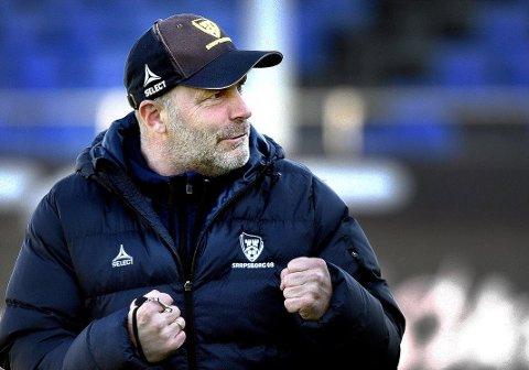 Klubbens beste: Hovedtrener i Sarpsborg 08 Geir Bakke ønsket et møte ti serierunder før slutt for å stadfestet posisjonen sin.