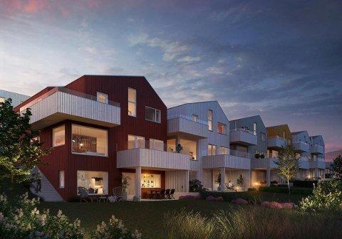 Seks eneboliger ligger nå ute for salg i Skadberg Allé. Den dyreste selges for 8.790.000 millioner kroner.