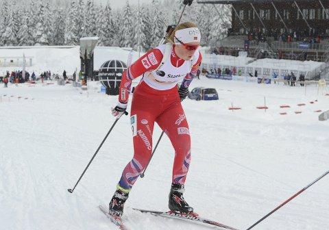 GULL: Ida Emilie Herfoss oppfylte en mangeårig drøm da hun i helga ble juniornorgesmester i skiskyting.