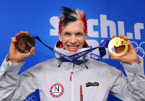 REPRISE? OL i Sotsji ble et eventyr med både gull og bronse til Magnus Krog fra Høydalsmo. Nå har Krogs sykdom samtidig med norsk kombinertsuksess gjort veien mot et nytt OL vanskelig, men 30-åringen har fortsatt trua. Foto: Terje Pedersen