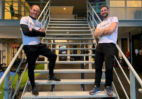 SAMARBEID: Fredrik Nordkvelle og Niklas Bergseth er nye kolleger og forretningspartnere.