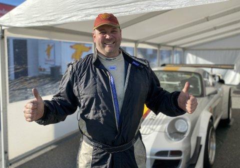 GLAD: Andreas Vaa fra Notodden fikk full uttelling og tre av tre seiere i Gatebil Extreme på Rudskogen i helgen.