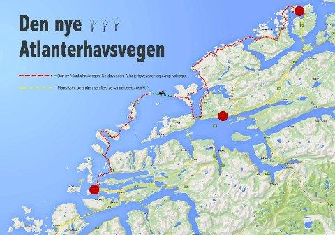 atlanterhavsveien kart Tidens Krav   Den nye Atlanterhavsveien atlanterhavsveien kart