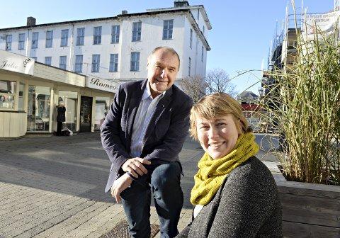 Kultursjef Eigunn Stav Sætre og eiendomssjef Roald Røsand har ledet arbeidet med å nedskalere planene for opera- og kulturhus i Kristiansund.