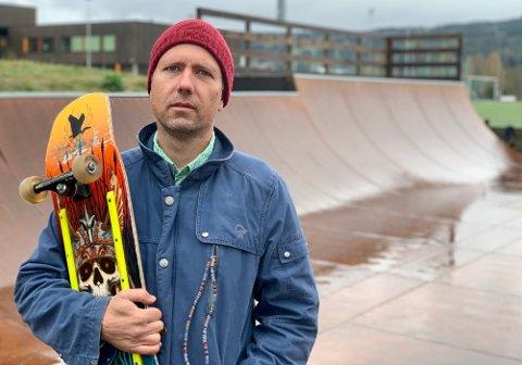 RULLEREGLER:Å dra inn møkk i en skatepark er ubetenksomt, sier styreleder Per Sveinung Larsen i Nittedal Rulleklubb.