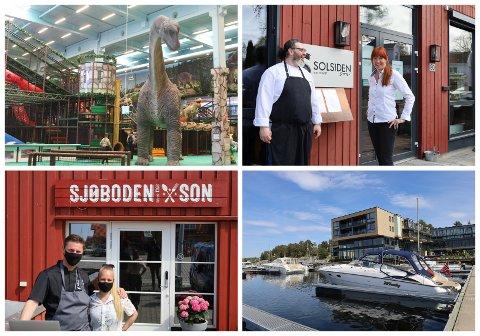 FÅR SMILEFJES: Eventyrfabrikken, Solsiden, Restauranthuset Sjøboden og Son Spa er blant serveringsstedene som har hatt besøk av Mattilsynet i juli og august. Samtlige av de nylig besøkte stedene har fått smilefjes.
