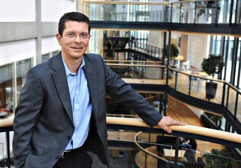 LANG FARTSTID: Geir Håøy har 24 års fartstid i Kongsberg Gruppen. Fra å ha ledet Kongsberg Maritimes operasjoner i Sør-Korea og Singapore er han i dag konsensjef for selskapet.