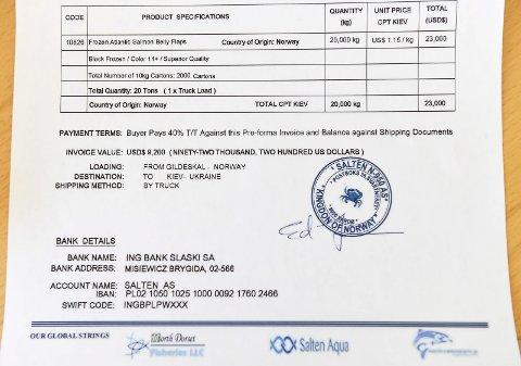 Ren svindel: Logoen til Salten Aqua og merkenavnet N950 brukes rått til å svindle godtroende kunder til å betale opp til 40 prosent forskudd for varer de aldre vil få.
