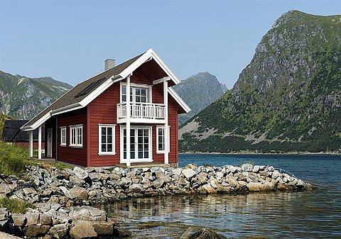 Sjøhus: Det er sjøhus av denne typen Skutvik Opplevelser AS vil bygge tre av på stedet.