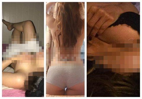 Disse bildene er hentet fra massører som også tilbyr seksuelle tjenester. Alle har svart ja på spørsmål om sextilbud fra Drammens Tidenes journalist - og alle tre opererer i distriktet.