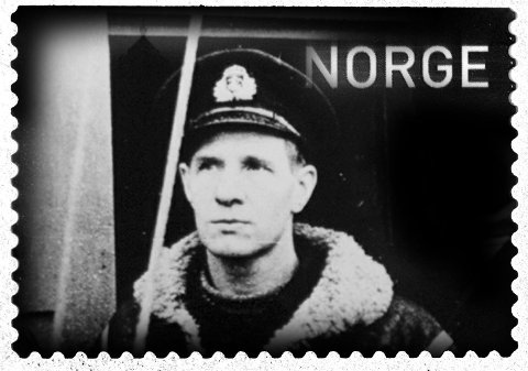 Bauta: Leif Andreas Larsen, eller Shetlands-Larsen som han ble kalt, er en av landets største krigshelter, og han tok stor risiko for å redde landsmenn under nazi-okkupasjonen. Men på frimerke når han foreløpig ikke opp i Oslo. Illustrasjon: BA