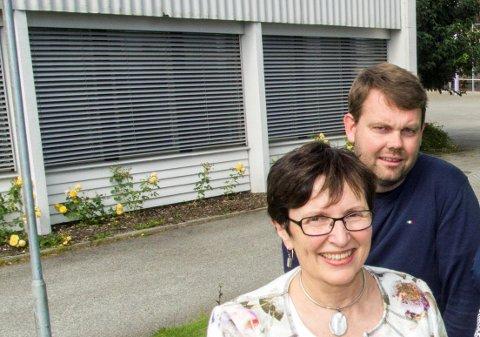 Nåværende rektor Aslaug Undheim og ny rektor Tor-Magne Rotevatn.