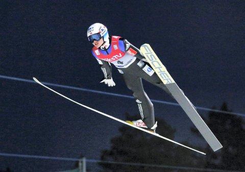 PRØVD SEG:  Joacim Ødegård Bjøreng hoppet verdenscupi  skiflygning i Vikersund i vinter.