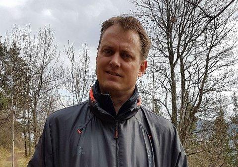 AKSJONIST på MARIENLYST: Thomas Krekling og aksjonsgruppen Lenge Leve Marienlyst forventer at saken kommer opp på førstkommende møte i formannskapet.