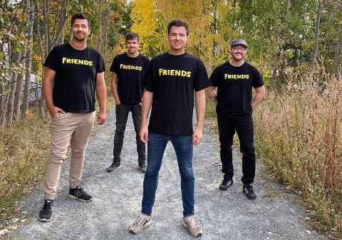 FRIENDS: Tom Erik Ødegård, Daniel Gustavsen, Joachim Ruud Olsen og Thomas Johnsen drømmer om å bli Norges største coverband.
