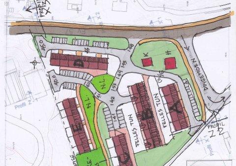 PLANEN: Harald Loneland vil bygget mellom 30 og 40 leilegheiter på Dingemoen i Dale.