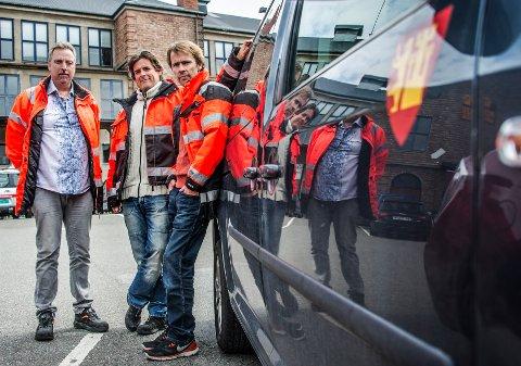 MISTER JOBBEN:  Erik Kristiansen, Truls Karserød og Thomas Magnus Kristiansen har hjulpet andre ut i jobb. Nå mister de selv jobben fordi Nav mener de ikke har riktig kompetanse.