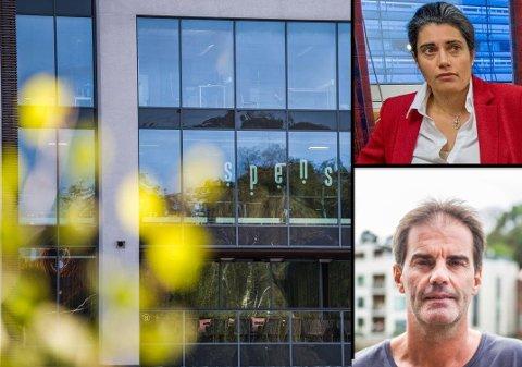 Racha Maktabi og Morgan Andersen fortsetter konfliktene i rettsappratet. Det er treningssenteret Spenst sitt leieforhold på brygga som er sentralt for uenighetene.