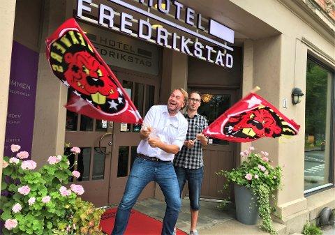 HOCKEY!: Bjørn Erik Simensen (t. v.) og Ole-Martin Johansen har klokketro på ny vind i Stjernen-seilene.