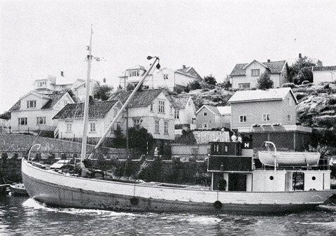 Motorskøyta Mirjam II før krigen, innkjøpt i 1945 av Skipsaksjeselskapet Horten og omdøpt til Svein.