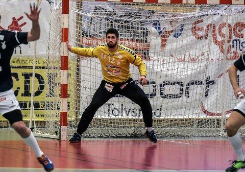 GJENSYN: Zivojin Ilic slik vi i Horten er vant til å se ham, i mål for Falk. Søndag derimot skal han for aller første gang spille mot Falk, etter overgangen til FyllingeBergen etter forrige sesong.