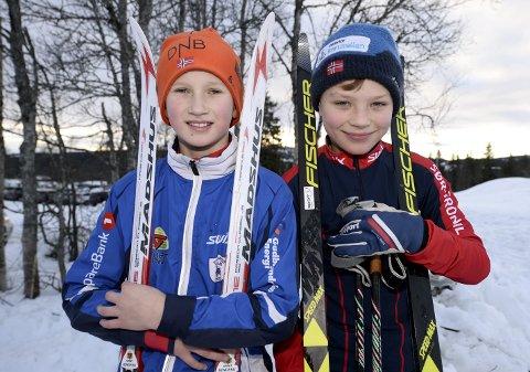DEBUTERTE: Simen Andersstuen fra Tormod Skilag (t.v.) og Knut Ulberg fra Sør-Fron IL debuterte i GD-cupen i Gausdalsrennet på Skeikampen søndag. Alle foto: Morten Aasen