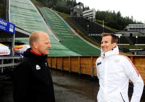 Jostein Buraas (t.v.) og Per Erik. Mæhlum har store planer for de internasjonale idrettscampene på Lillehammer.