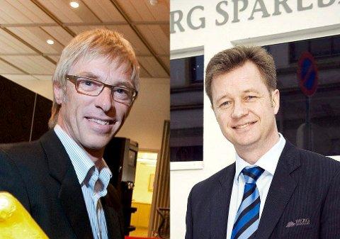 GODT RUSTET: De lokale banksjefene Tom Willy Prangerød (tv) og Jørn Berg.