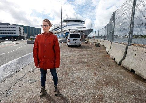 KLAR MELDING: Trine Meling Stokland (SV) vil ha slutt på cruiseskip-anløpene fram til landstrømanlegg er på plass.