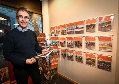 ØKNING: Daglig leder i Rede Eiendom, Stig Magne Øie, kan se tilbake på en økning i antall boligsalg på Helgeland i årets første kvartal.