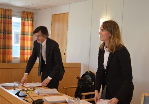 VANT FRAM: Advokatene Alf Amund Gulsvik og Malene Reinertsen representerte Sykehusinnkjøp HL i rettsmøtet tidligere i juni. De ble hørt av retten.