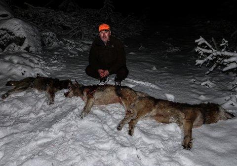 PÅ SKINNER: – Jakta har gått på skinner. Det kan vi takke absolutt alle involverte for, sier leder for ulvejakta, Kristian Noer.