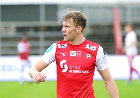 SKADET: Joacim Holtan spiller ikke for Bryne i mandagens kamp mot Odds andrelag.