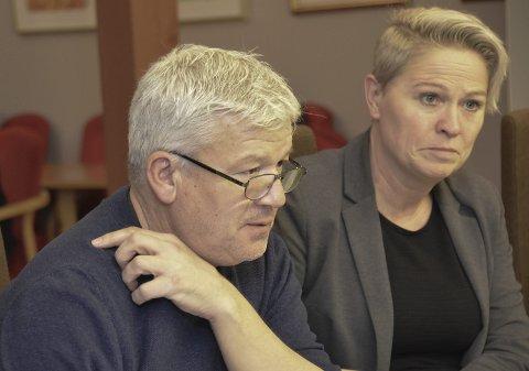 Mer skatt: Jone Blikra og Sølvi Wreen Wirøs (Ap) la fram et budsjettforslag fra opposisjonen, men den ytterligere økning i eiendomsskatten på 13 millioner kroner.