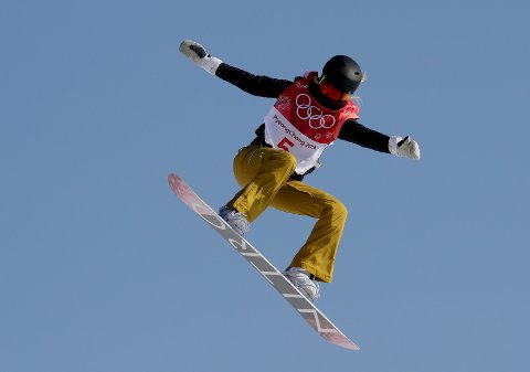 SJETTEPLASS: KIF-jenta Silje Norendal ble nummer seks i finalen i big air i OL. (AP Photo/Kirsty Wigglesworth)