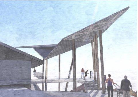 SØR: Her er forslaget til trappetårn fra Sør Arkitekter.