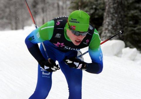 GIKK FORT: Andreas Kirkeng imponerte da han ble nummer to i søndagens norgescuprenn på Voss.
