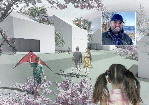 For barnefamilier: Tonny Tollefsen vil legge til rette for barnefamilier når han planlegger ni eneboliger i boligrosjektet Soltun.