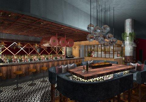 MAT OG DRIKKE: Det nye serveringsstedet på Torvet skal ha hovedfokus på viner og drinker, men det blir også enkel matservering av oster og spekeskinker.
